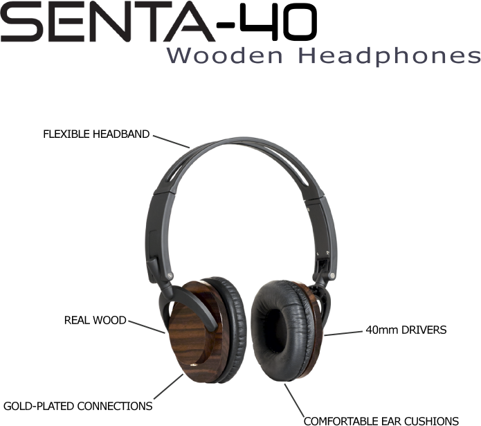 Senta-40 Wood Headphones Features